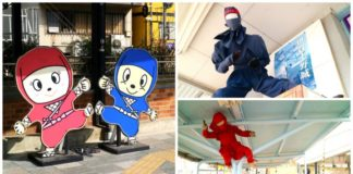 Trạm Uenoshi nổi tiếng với Ninja